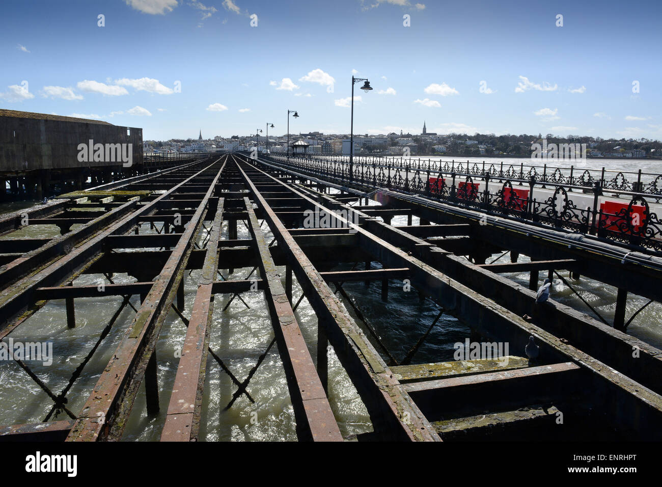Ryde Pier disused tramway Isle of Wight - Stock Image
