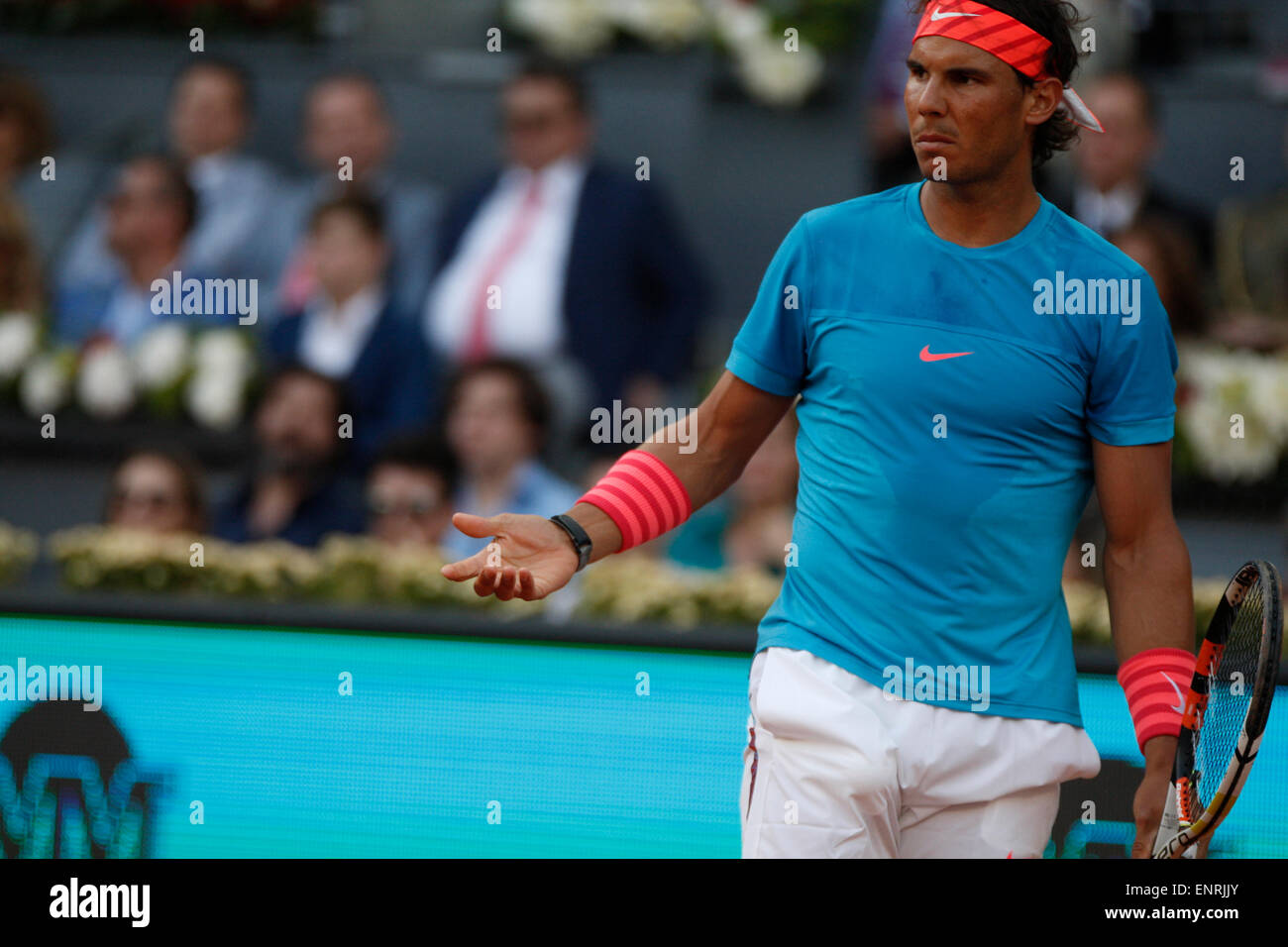 Madrid, Spain. 10th May, 2015. Loss to Andy Murray in final of Madrid Open means Rafael Nadal is not in tennisÕ - Stock Image