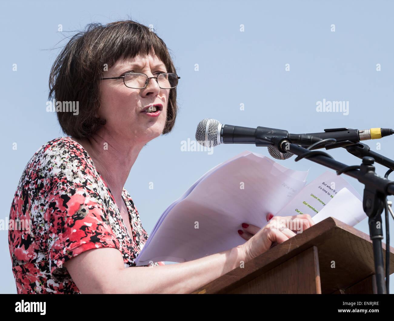 Frances O`grady, General Secretary of the British Trades Union Congress (TUC) - Stock Image