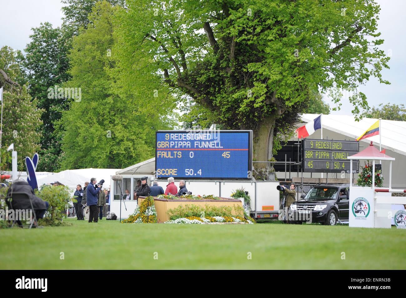Badminton, UK. 10th May, 2015. Mitsubishi Motors Badminton Horse Trials 2015. Badminton, England. Rolex Grand Slam - Stock Image