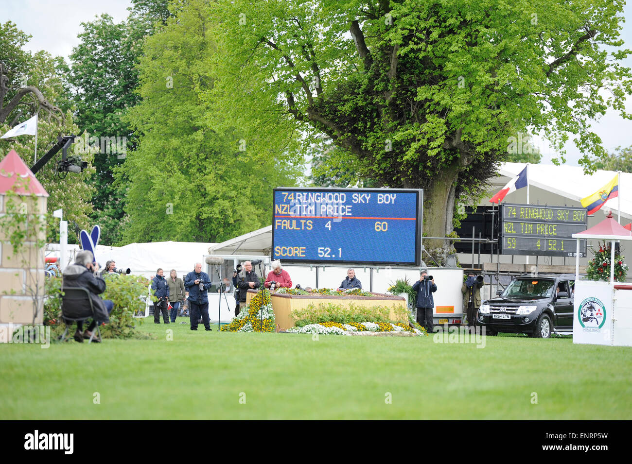 Badminton, UK. 10th May, 2015. Mitsubishi Motors Badminton Horse Trials 2015. Badminton, England. Rolex Grand Slam Stock Photo