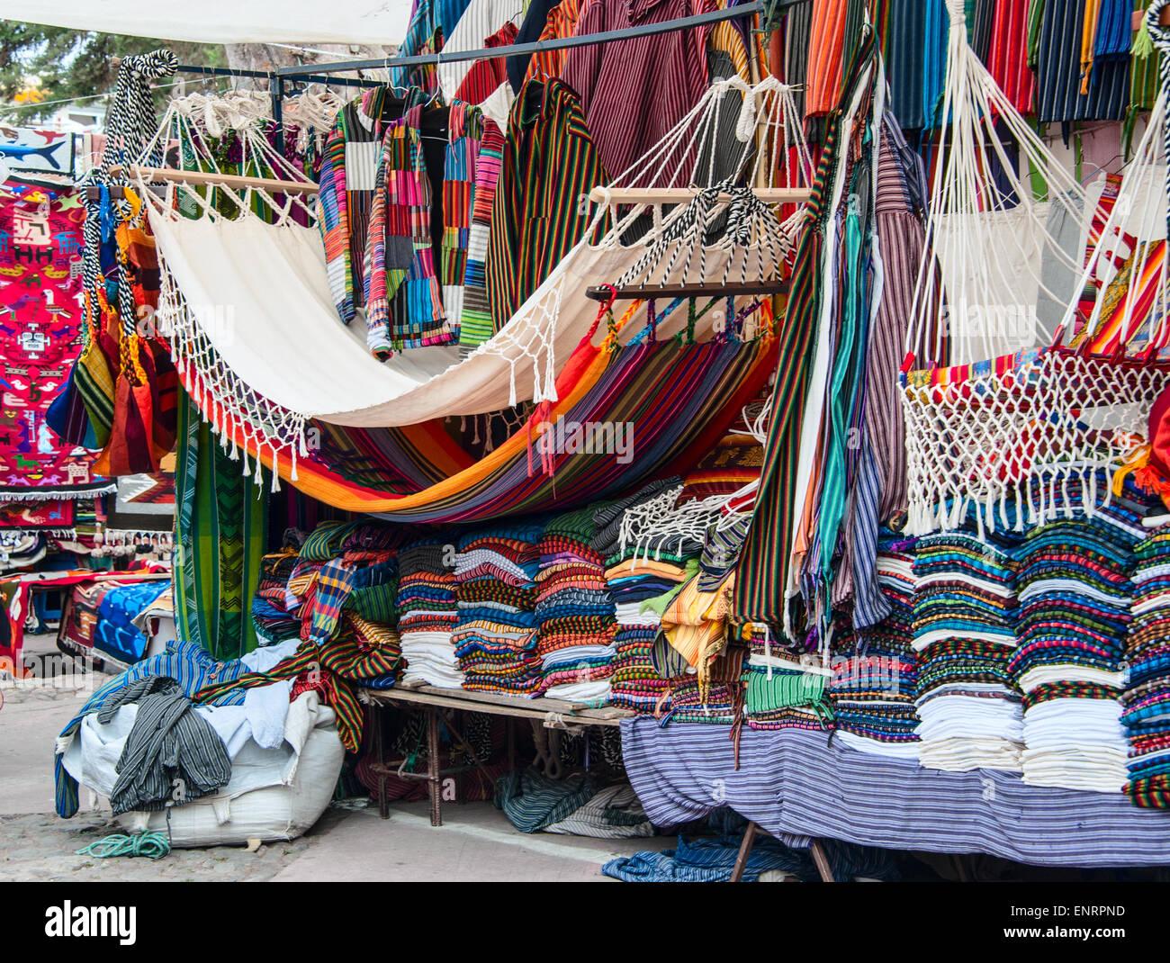 Famous Indian market in Otavalo, Imbabura, Ecuador, South America - Stock Image