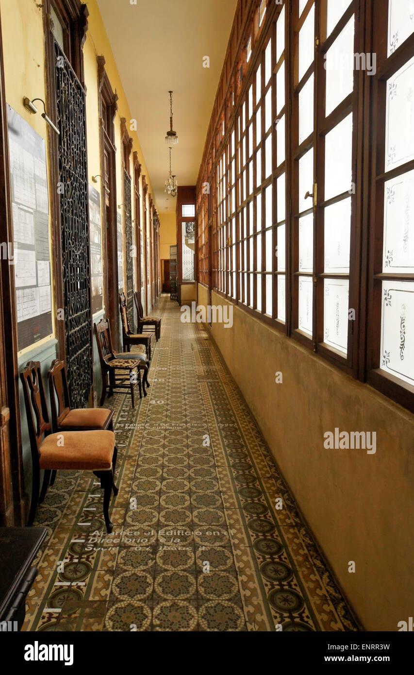 Corridor of La Guarida paladar (restaurant) in La Mansion Camaguey, Havana, Cuba - Stock Image