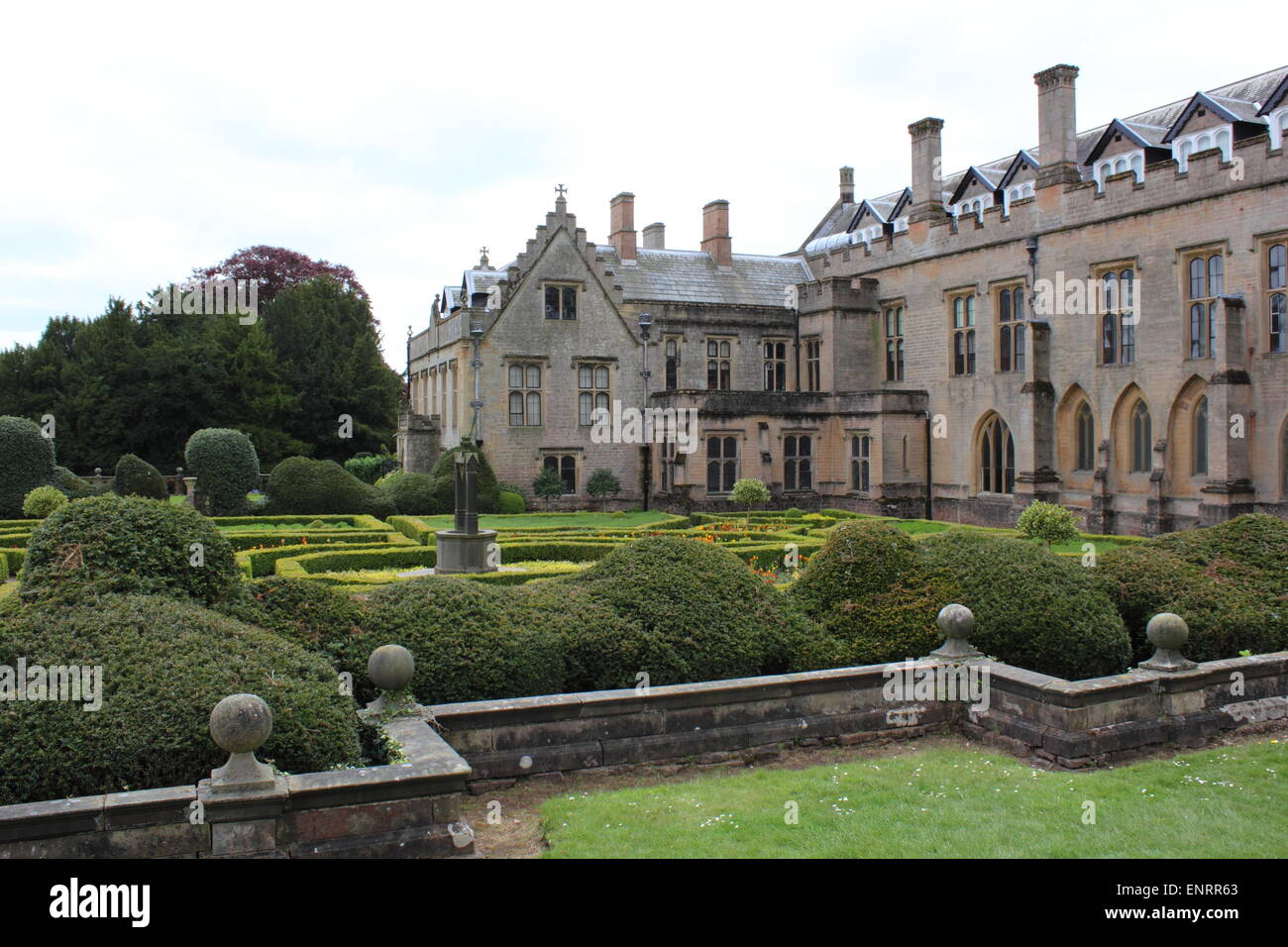 Newstead Abbey Spanish Gardens and Orangery - Stock Image