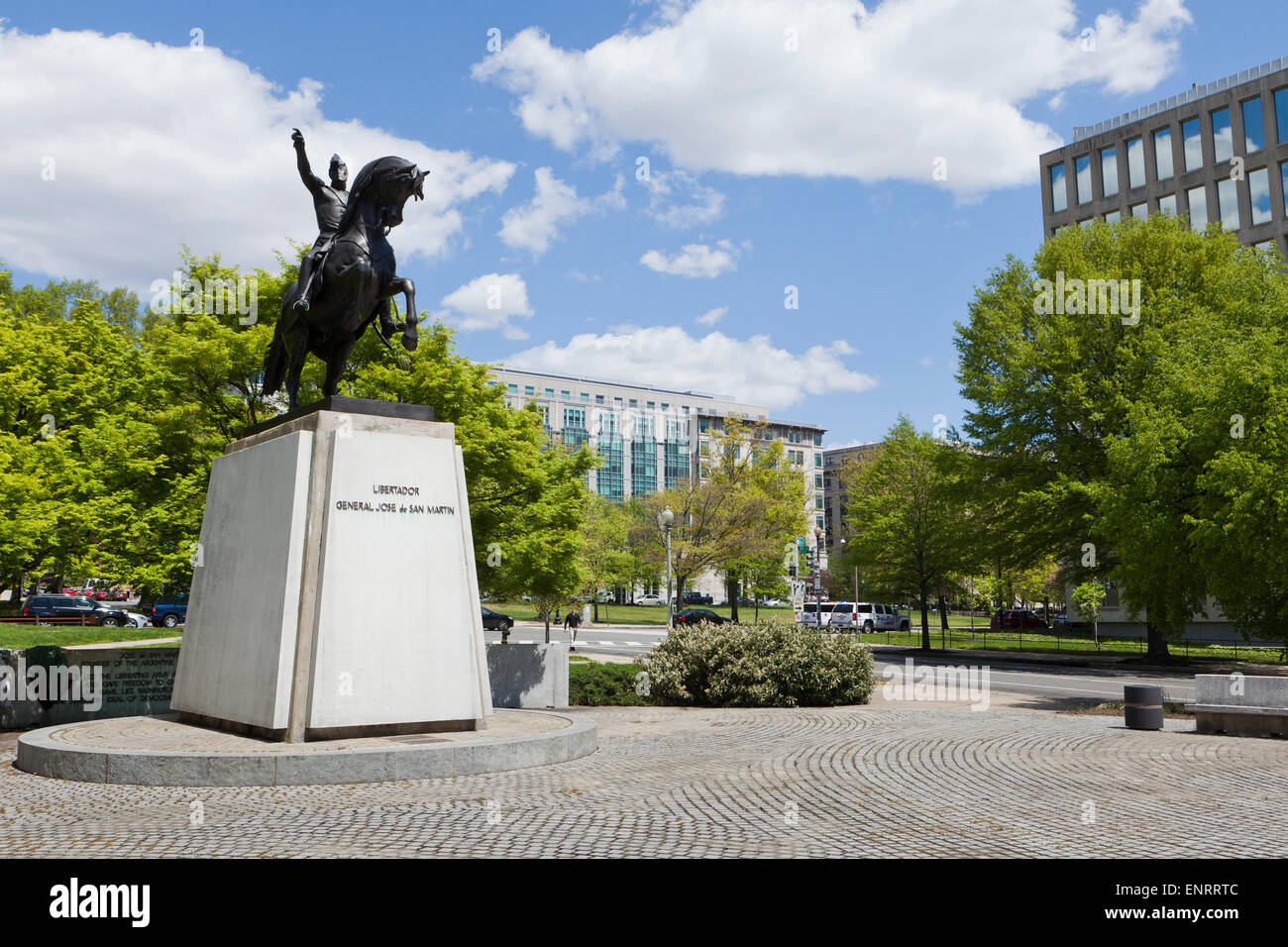 Libertador General Jose de San Martin memorial equestrian statue - Washington, DC USA - Stock Image