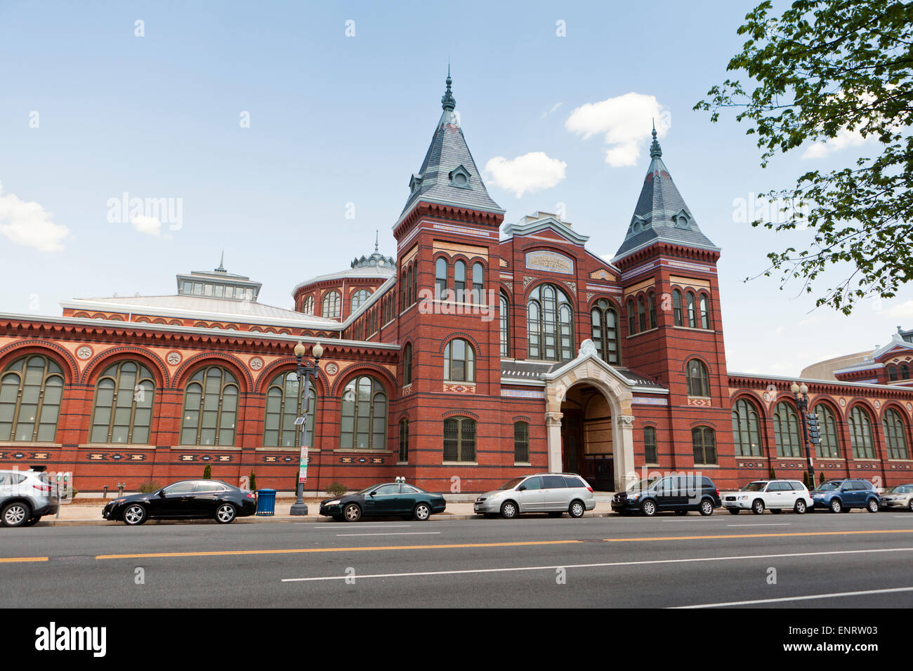 Smithsonian Arts and Industries museum building - Washington, DC USA - Stock Image