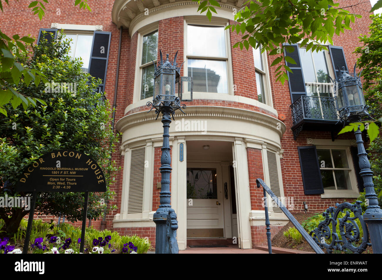 The Ringgold-Carroll House (DACOR Bacon House, John Marshall House) - Washington, DC USA - Stock Image