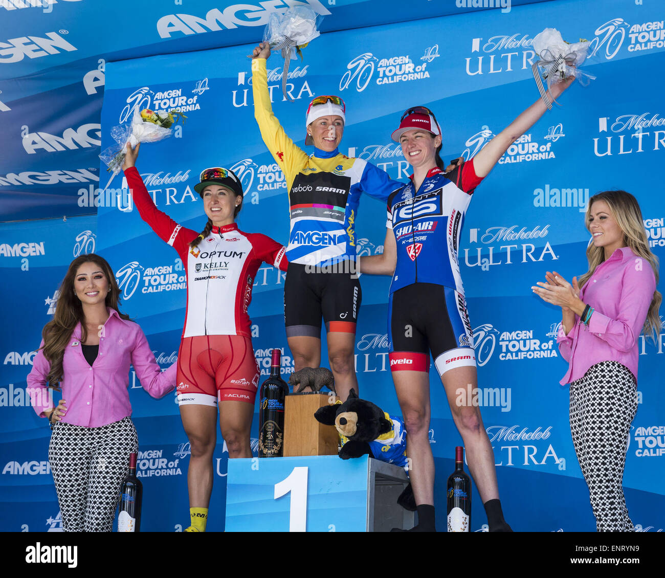 Sacramento, California, USA. 10th May, 2015. Sunday, May 10, 2015.Amgen Tour of California Women's Race General - Stock Image