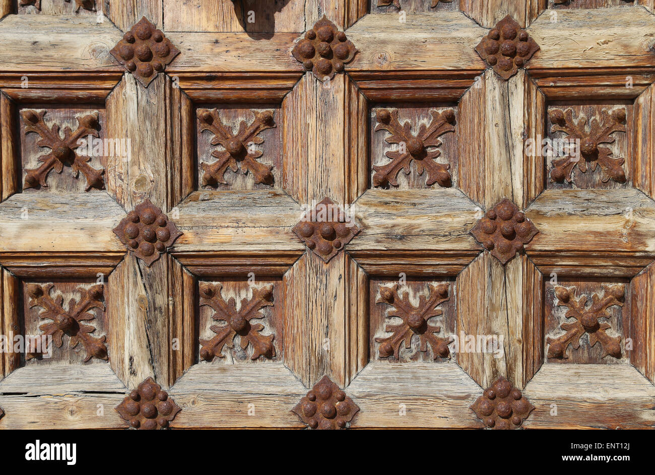 Spain. Catalonia. Sitges. Door. Detail. - Stock Image