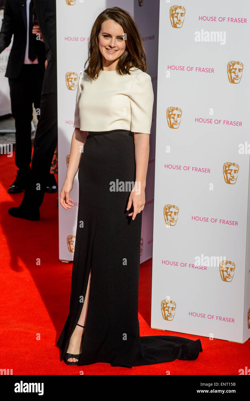Sophie McShera attends the HOUSE OF FRASER BRITISH ACADEMY TELEVISION AWARDS 2015 on 10/05/2015 at Theatre Royal, - Stock Image