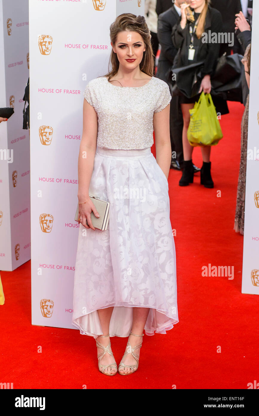 Anna Passey attends the HOUSE OF FRASER BRITISH ACADEMY TELEVISION AWARDS 2015 on 10/05/2015 at Theatre Royal, Drury - Stock Image