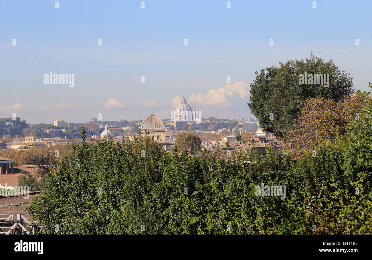 Italy. Rome. Overview. - Stock Image