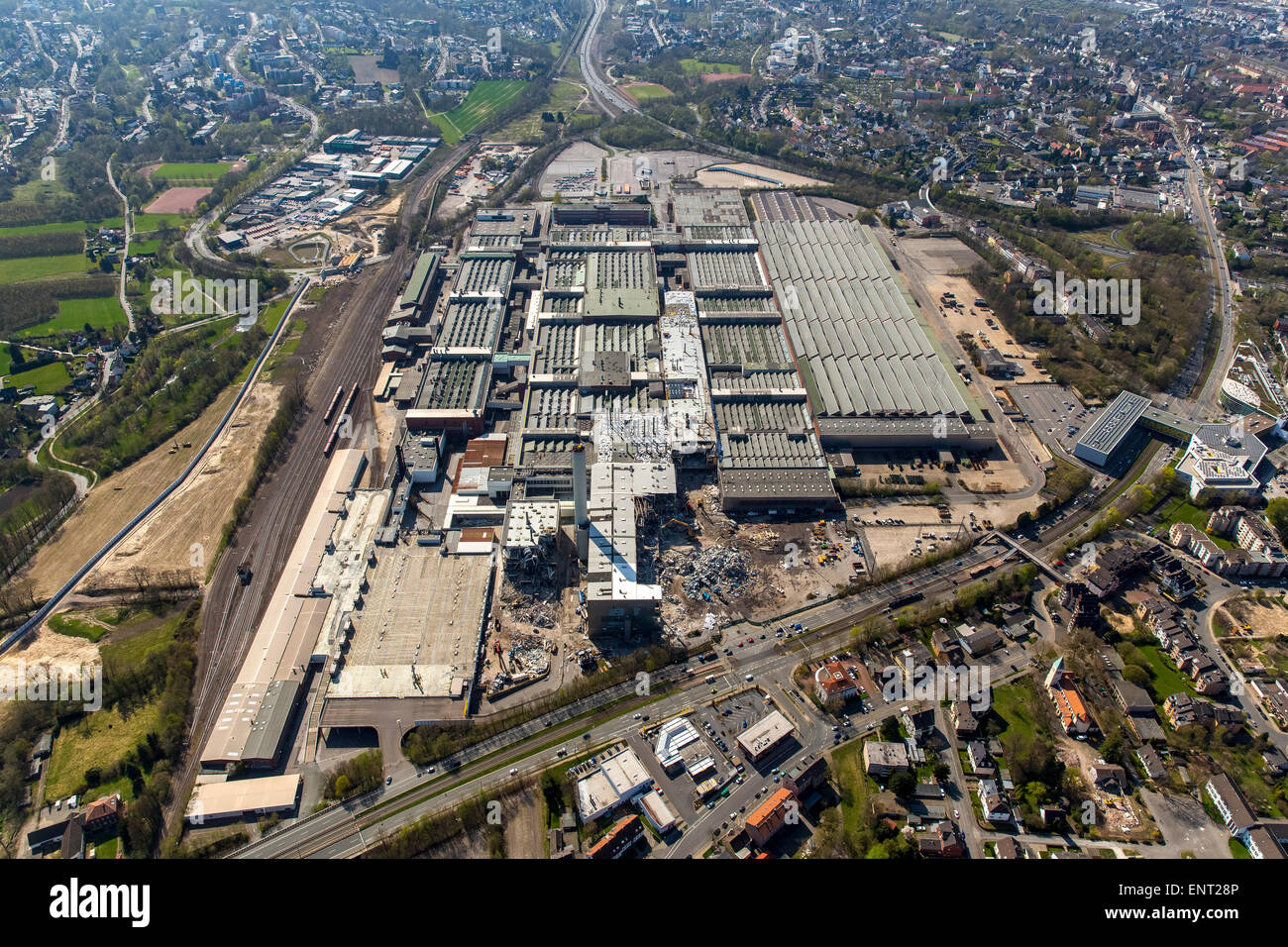 OPEL plant 1, demolition, Bochum, Ruhr district, Germany - Stock Image