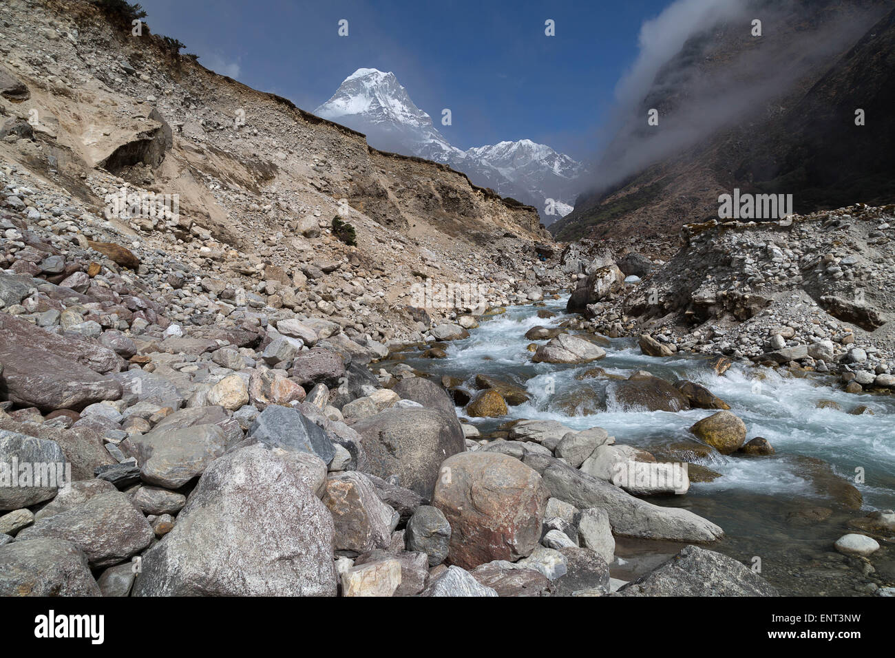 Kyashar (6770m), Everest Region, Nepal - Stock Image