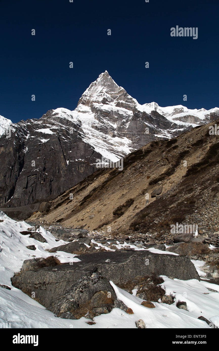 Kusum Kanguru (6376m), Everest Region, Nepal - Stock Image