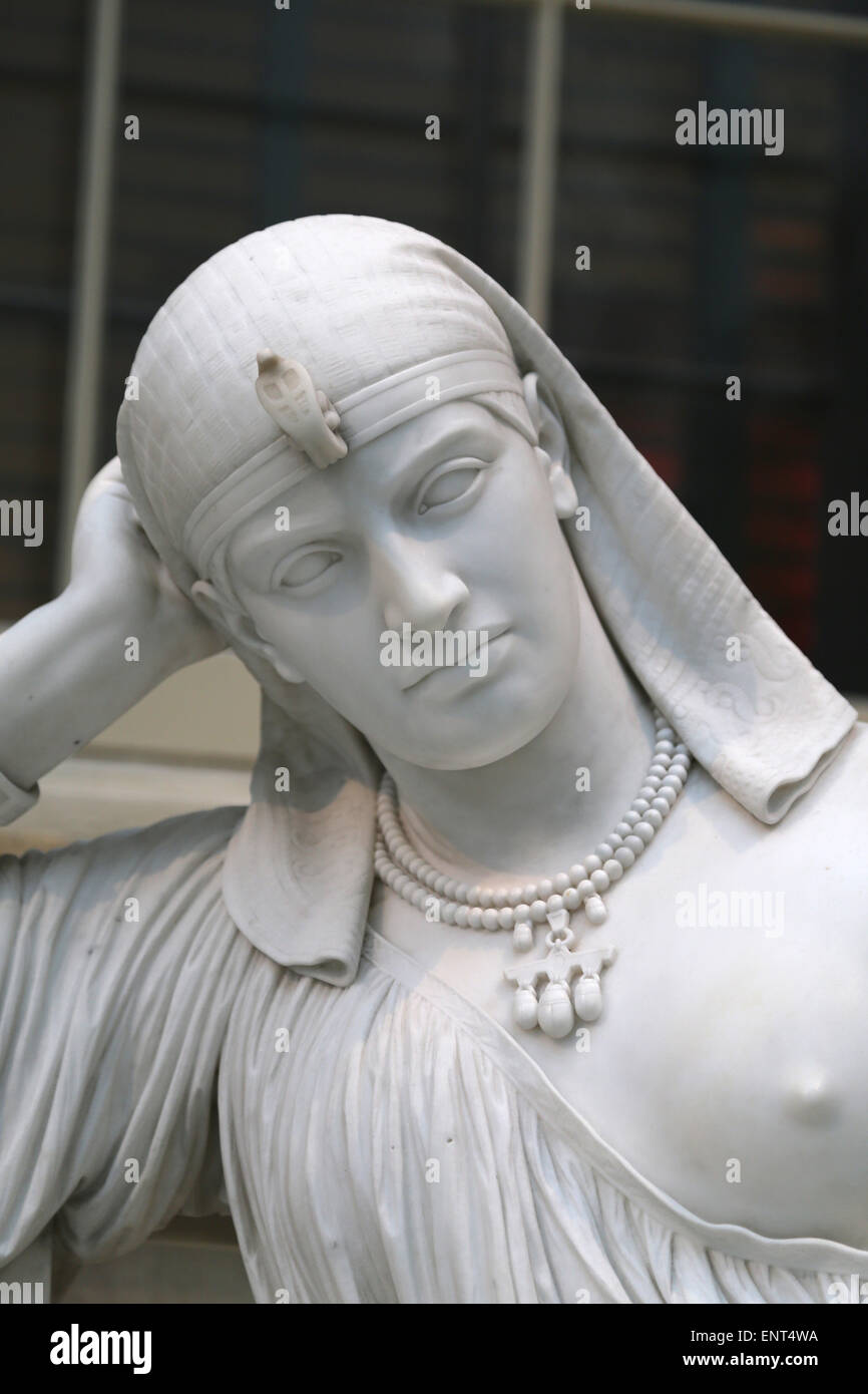 Cleopatra (69-30 BC). Queen of Egypt. Statue by William Wetmore Story (American, 1819-1895). Meditation on her suicide. Stock Photo