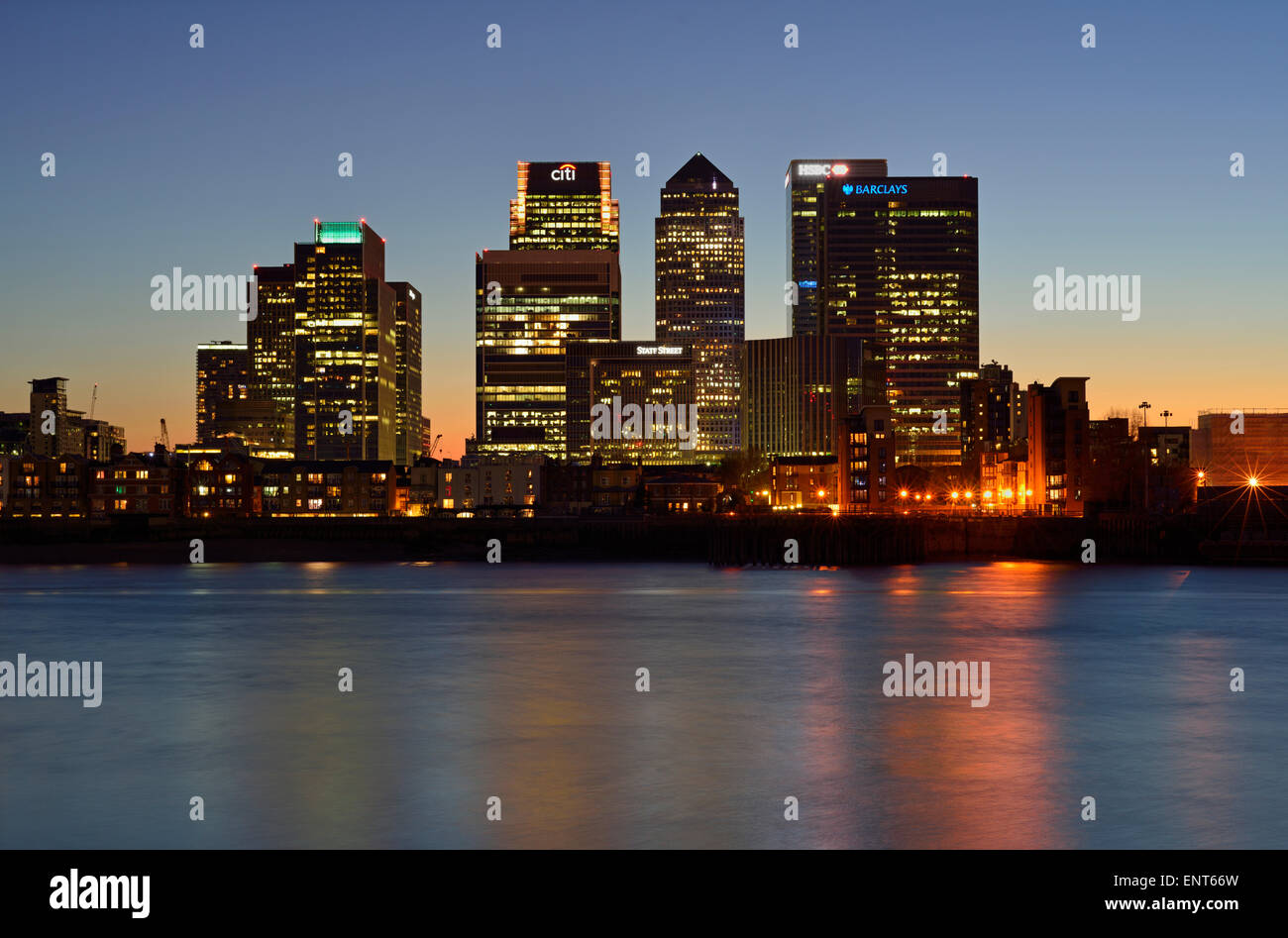 Canary Wharf Estate, Isle of Dogs, Docklands, London E14, United Kingdom - Stock Image