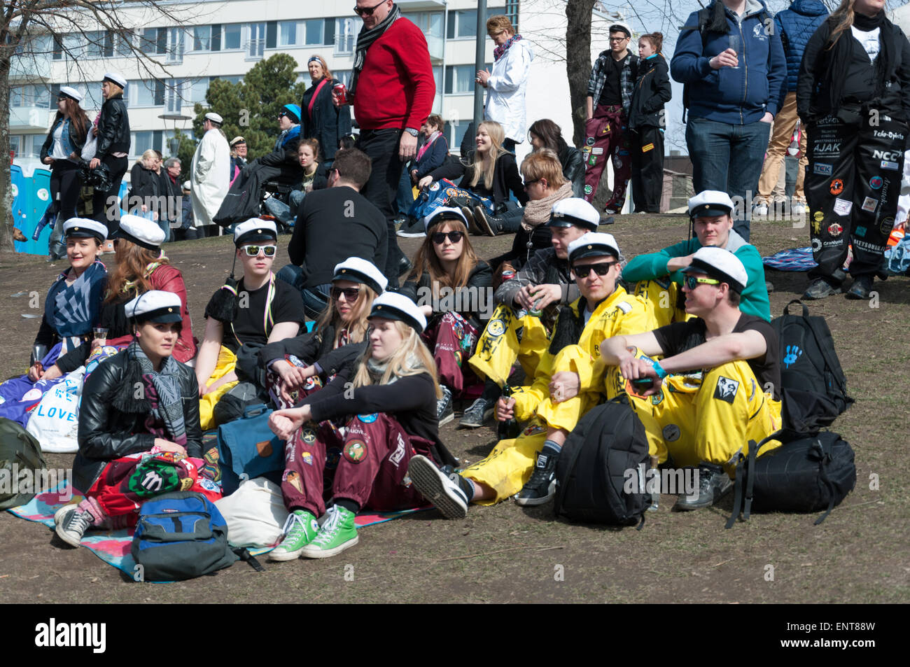 Finnish May day Festival - Stock Image