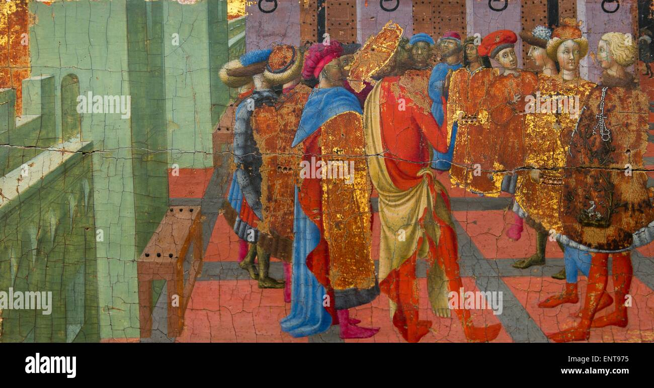 The preaching of Saint Bartholomew Painting with oil, aspen 26/09/2013 - Antiquity Collection - Stock Image