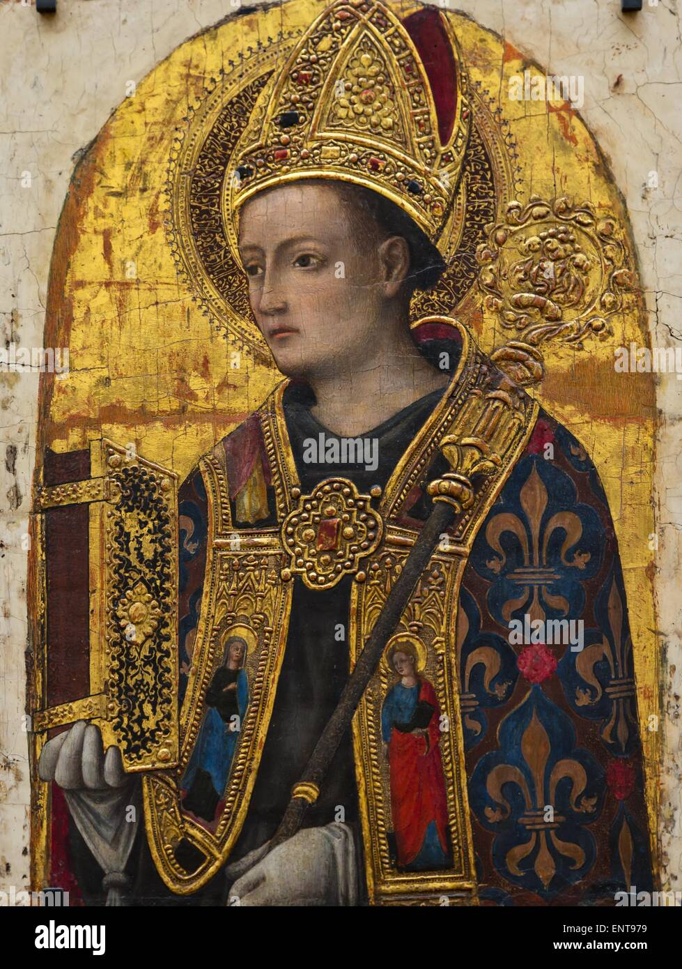Saint Louis of Toulouse Tempera on wood, gold foil 26/09/2013 - Antiquity Collection - Stock Image