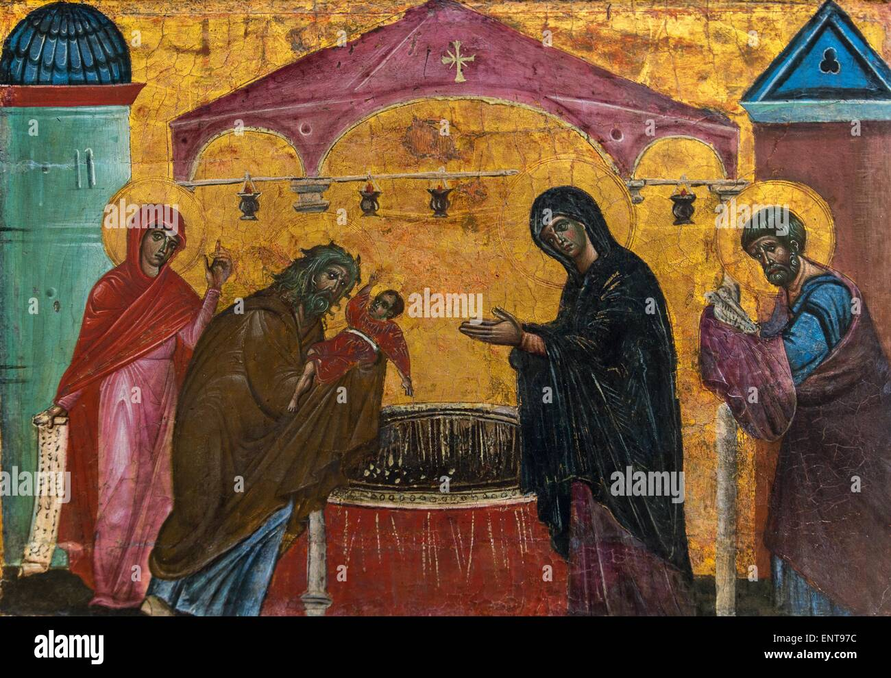 The presentation to the temple 26/09/2013 - Antiquity Collection - Stock Image