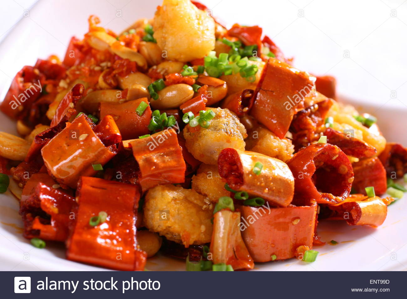 Brittleness chili nine fish belly - Stock Image