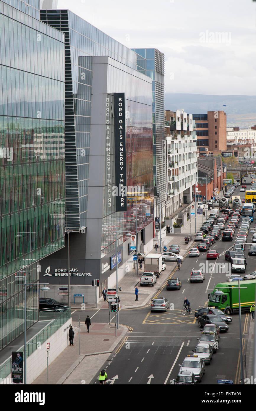 Cardiff Lane with the Bord Gais Energy Theatre, Dublin, Ireland. - Stock Image