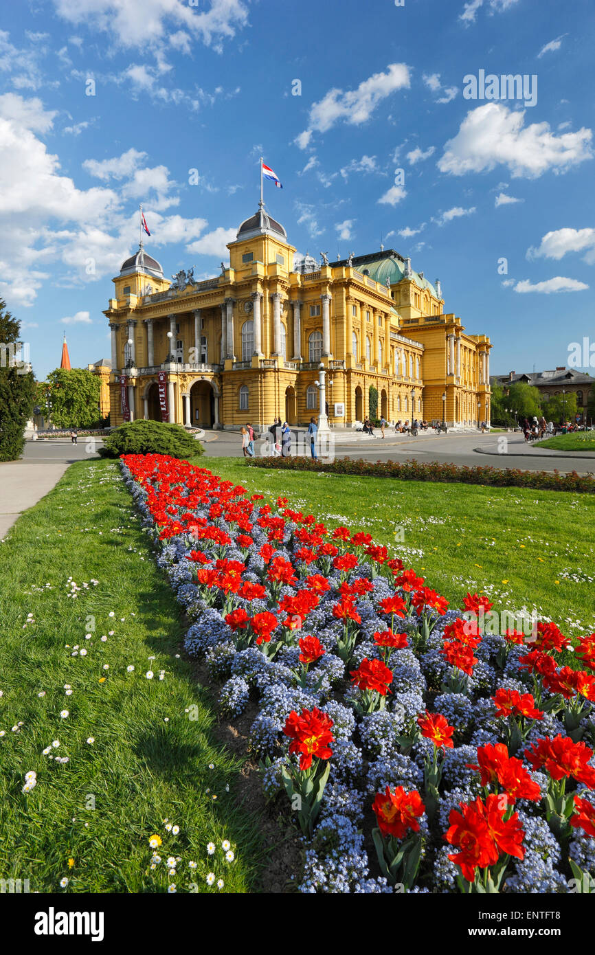 Zagreb national theater, Croatia - Stock Image