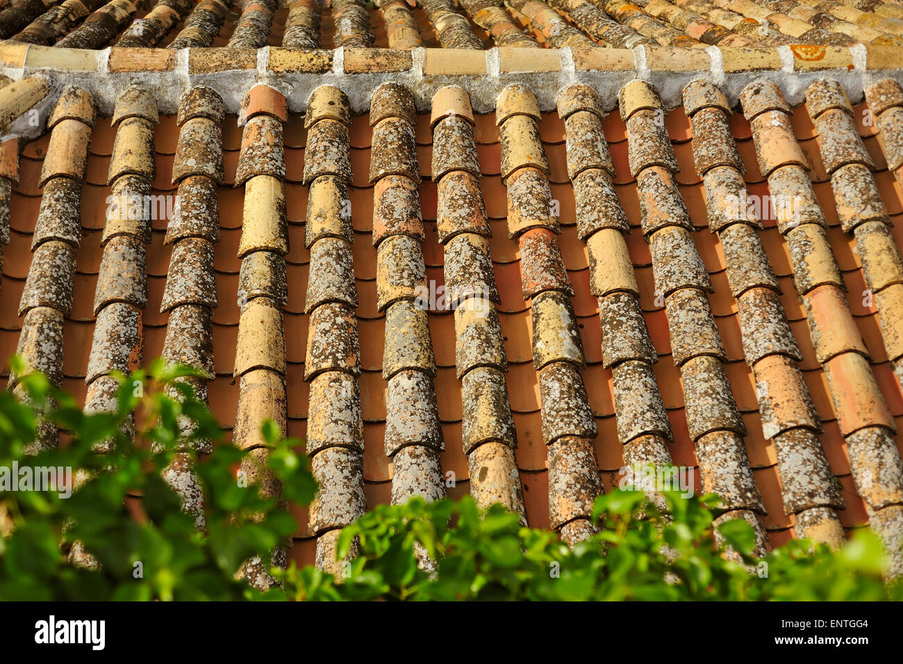TILED ROOFTOPS SPAIN - Stock Image