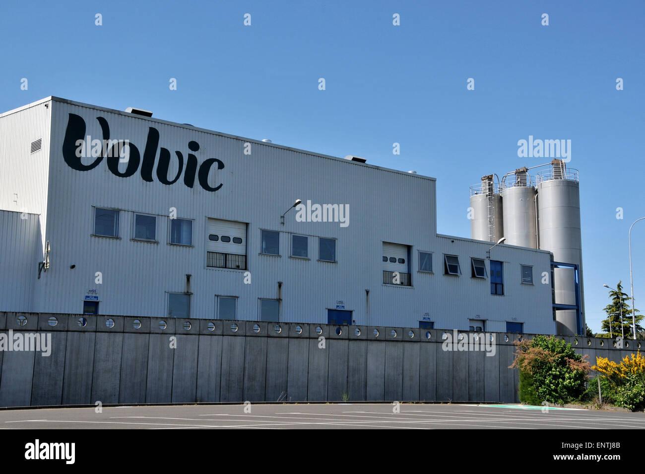 Volvic factory Volvic Puy-de-Dome Auvergne Massif-Central France Stock Photo