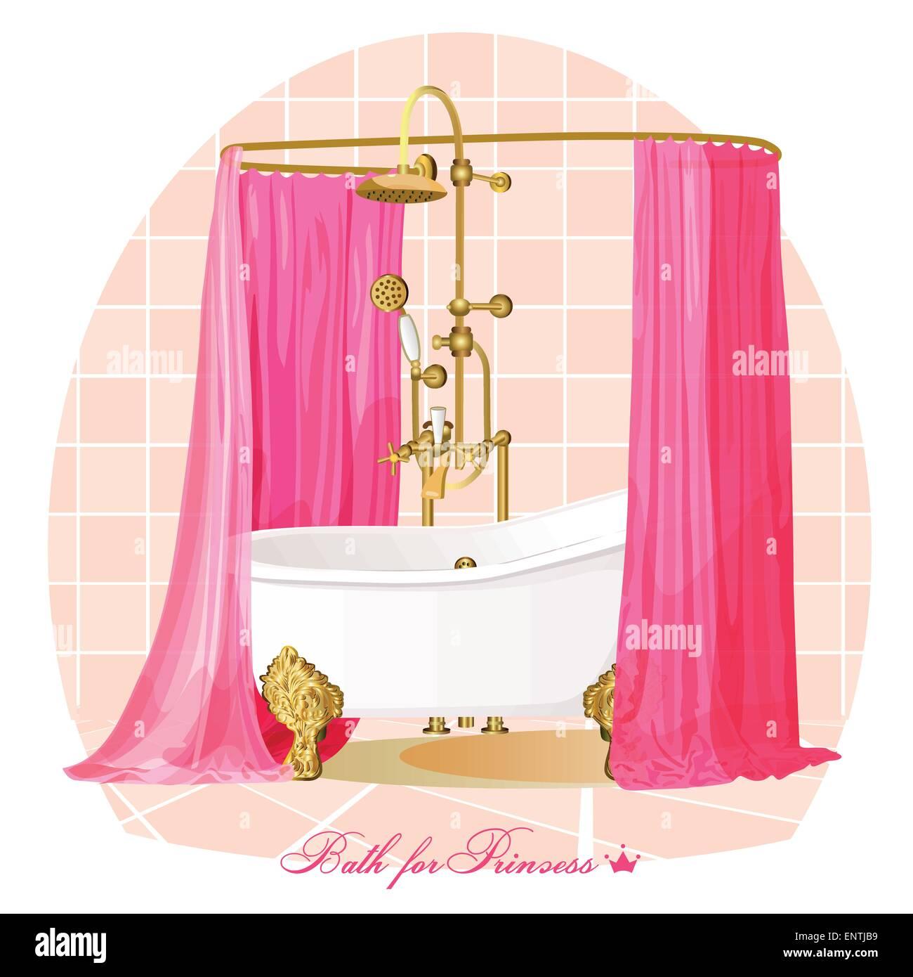 Bath. Luxury bathroom. - Stock Image