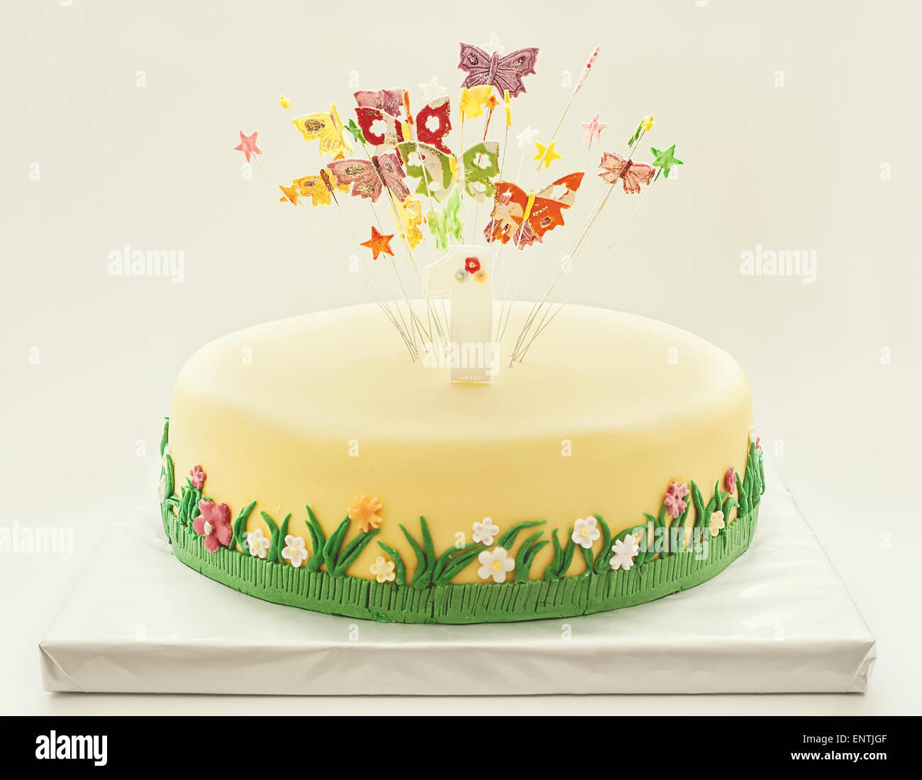 First Birthday Cake Stock Photos First Birthday Cake Stock Images