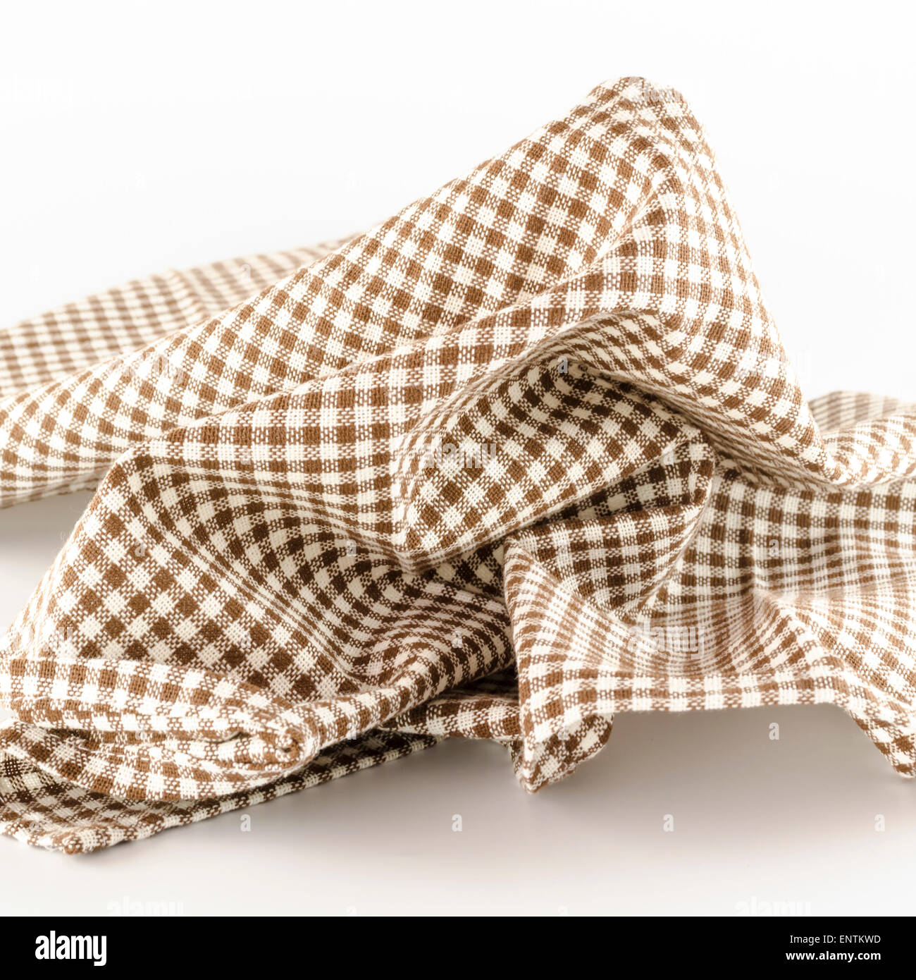 Brown Kitchen Towel On A White Background   Stock Image
