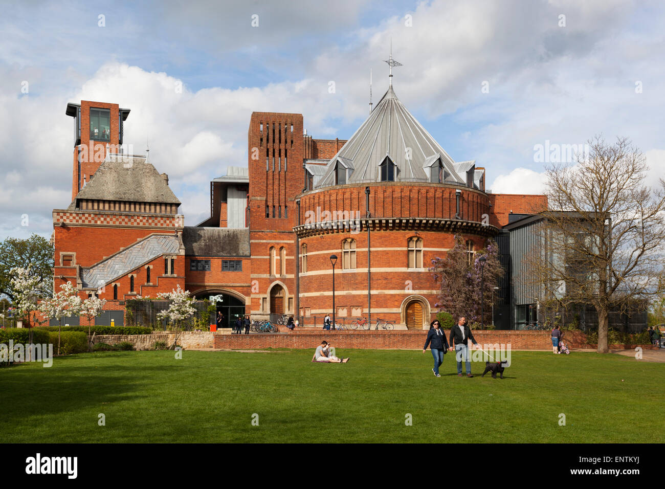 The Swan Theatre and the Royal Shakespeare Theatre, Stratford-upon-Avon, Warwickshire, England, United Kingdom, - Stock Image