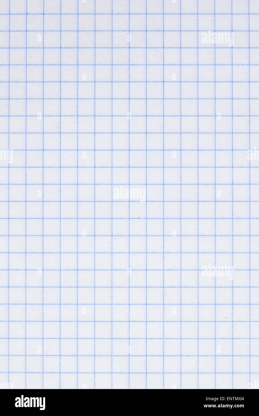 detail of an empty plotting paper - Stock Image