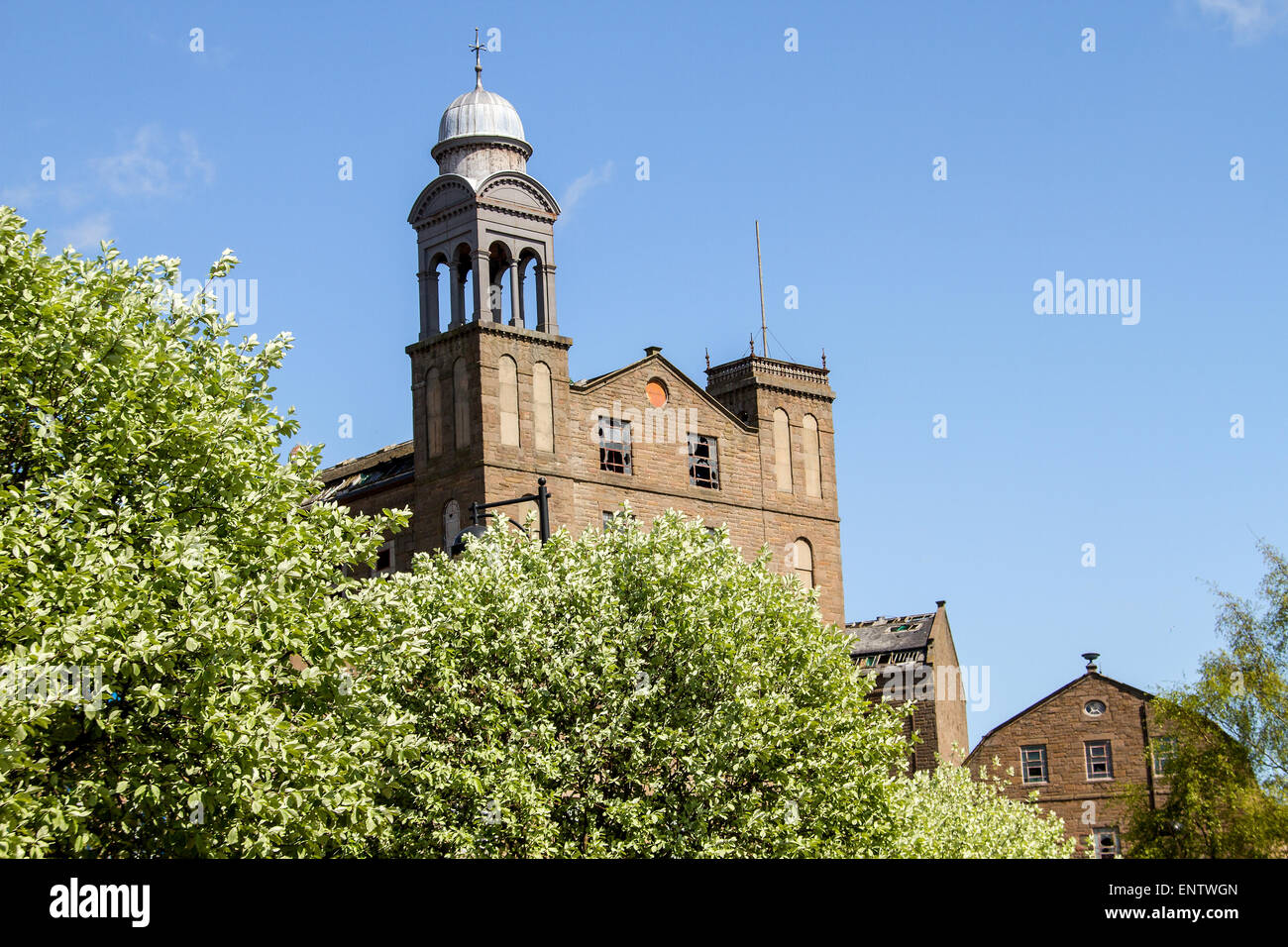 Scottish 1800`s Jute Mill owned by The Baxter Brothers where Mary Slessor worked and is now a Listed Building in - Stock Image