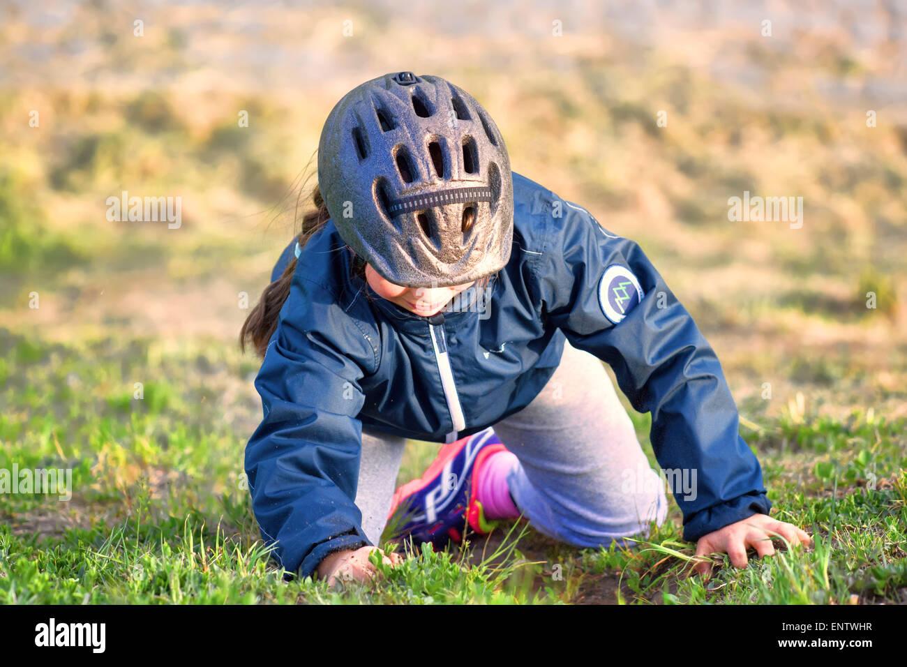 climbing girl - Stock Image