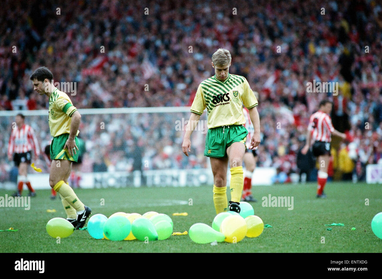 Sunderland 1-0 Norwich 1992 FA Cup semi-final 5/4/1992 - Stock Image