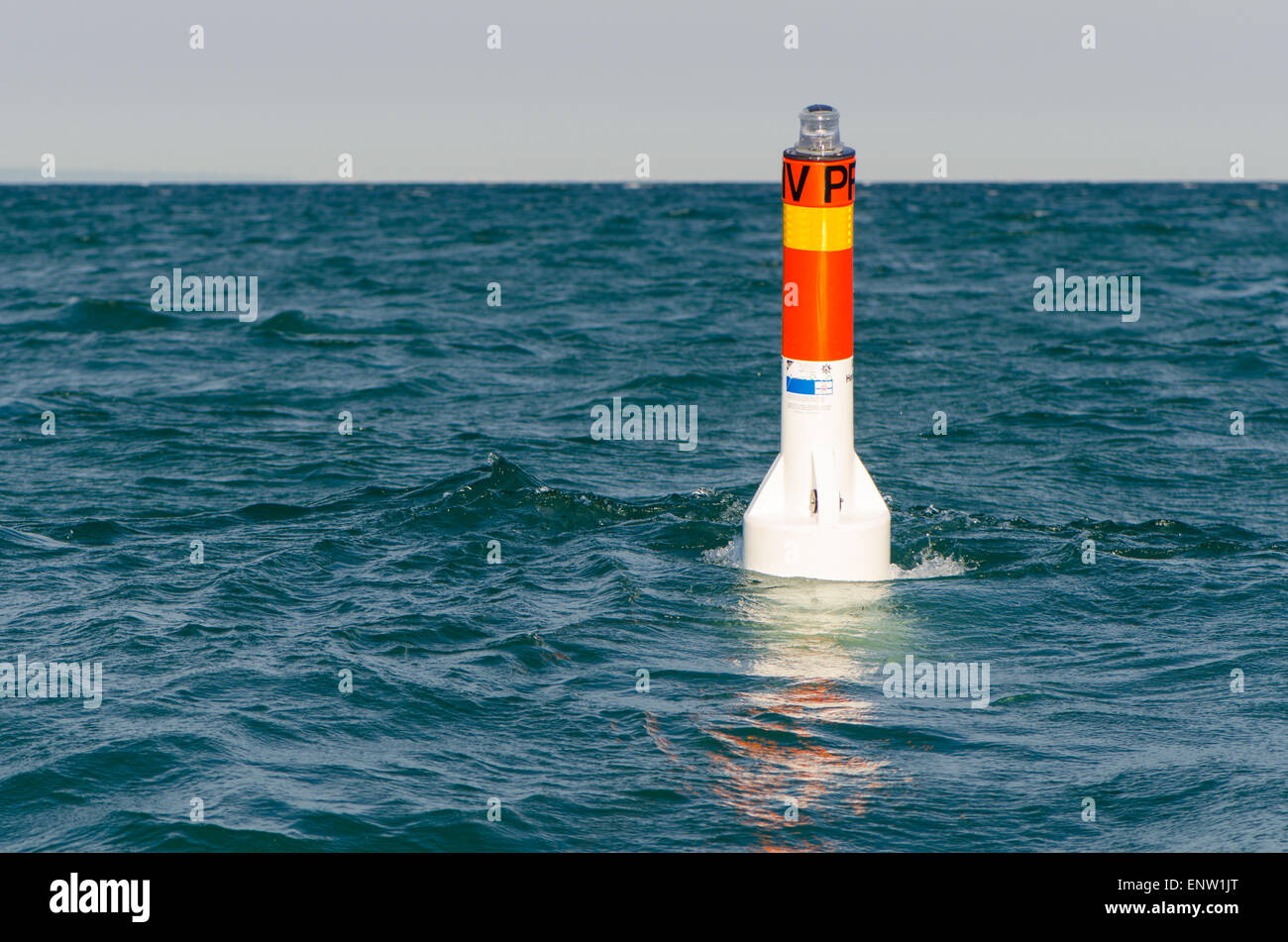 private navigation buoy - Stock Image