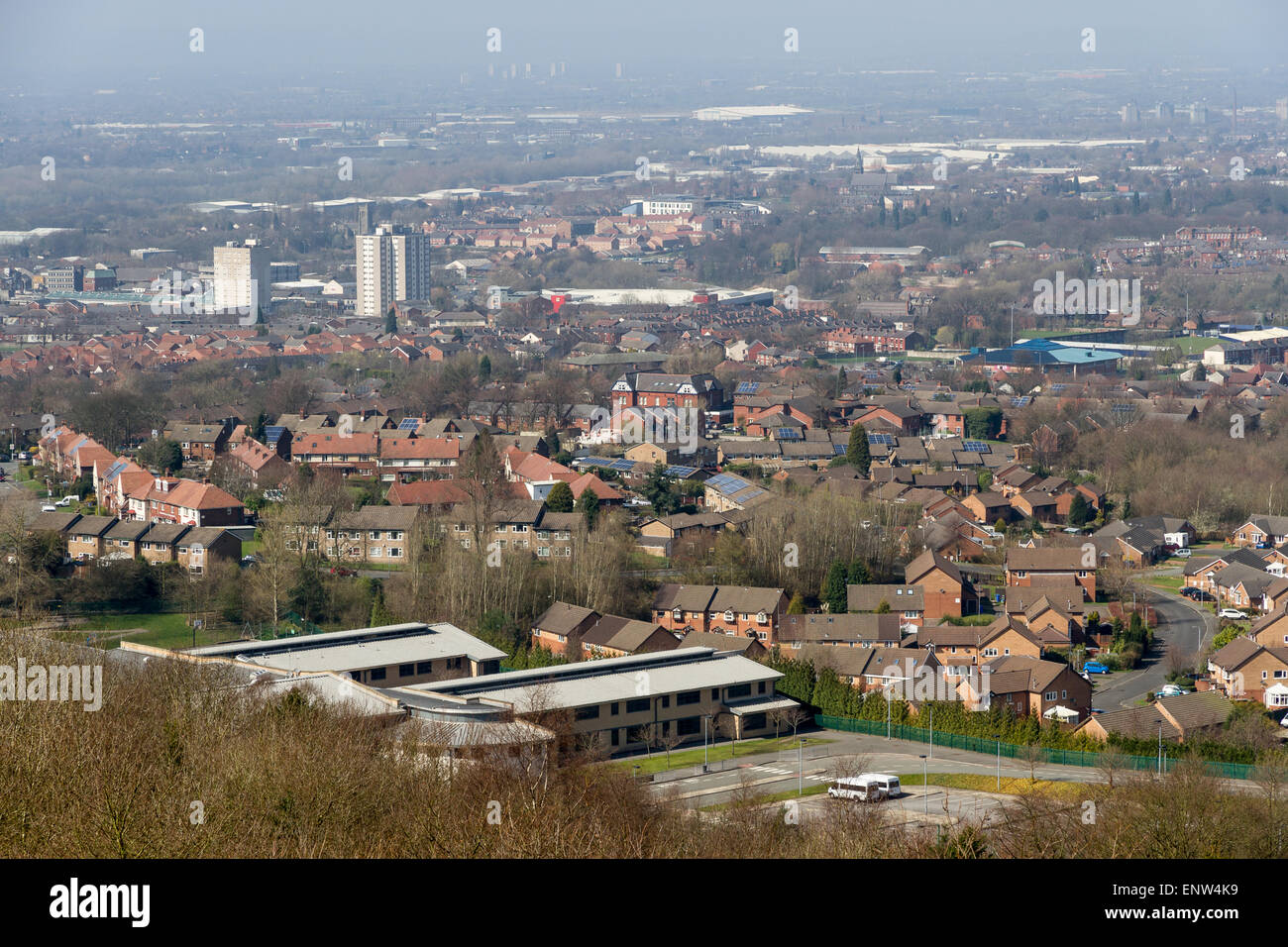 View over Stockport from Werneth Low Country Park, Greater Manchester - Stock Image