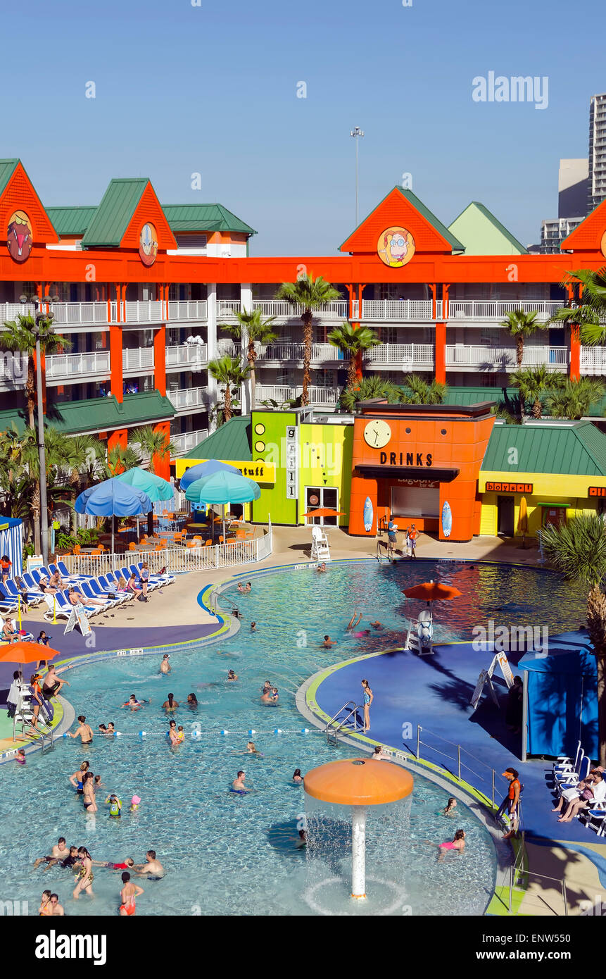 Nickelodeon Suites Hotel Nick Hotel Oasis Swimming Pool Orlando Stock Photo 82302108 Alamy
