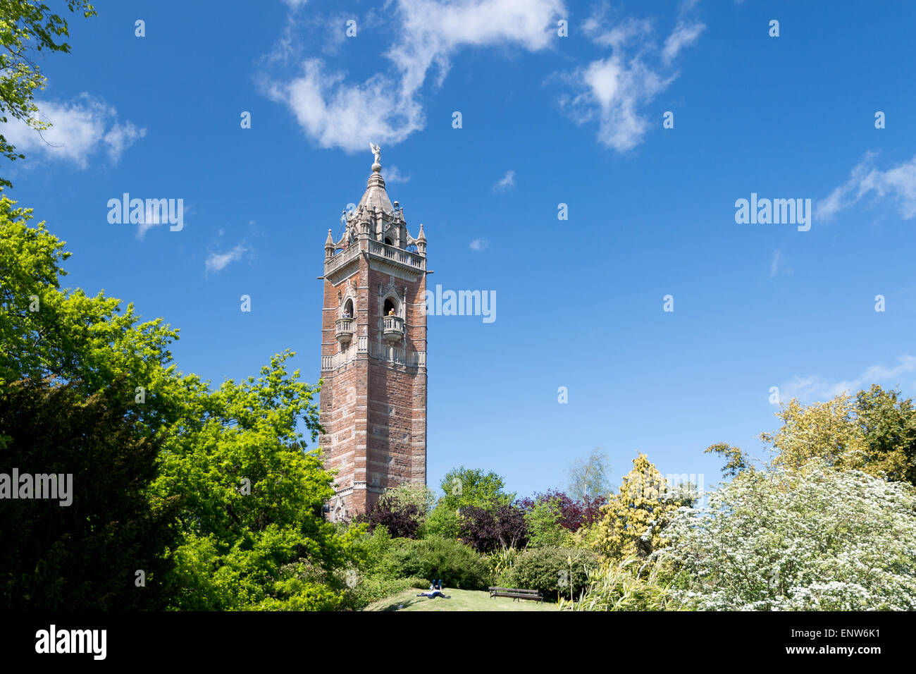 Cabot Tower, in Bristol United Kingdom - Stock Image