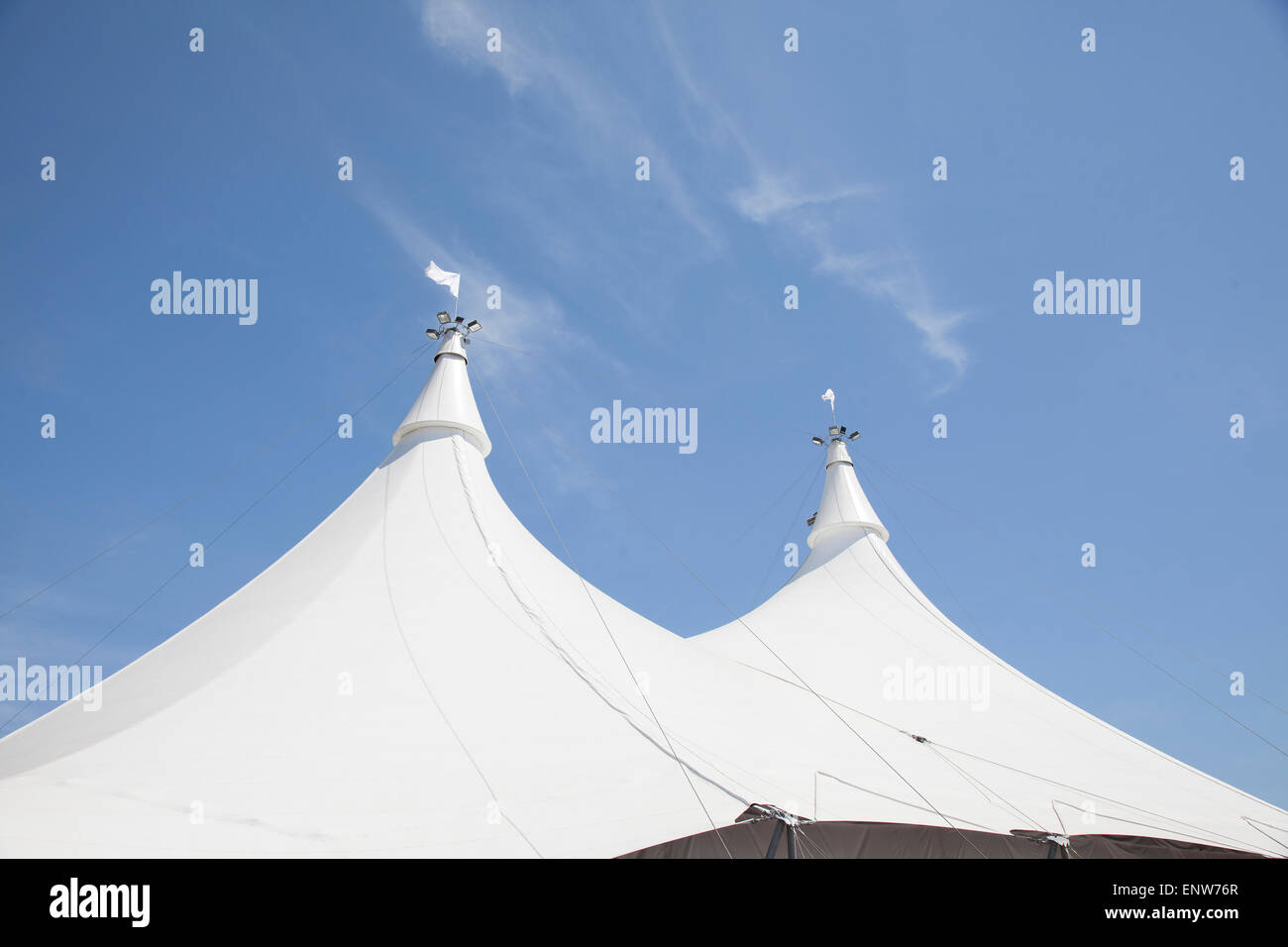 white pavillion tent structure - Stock Image