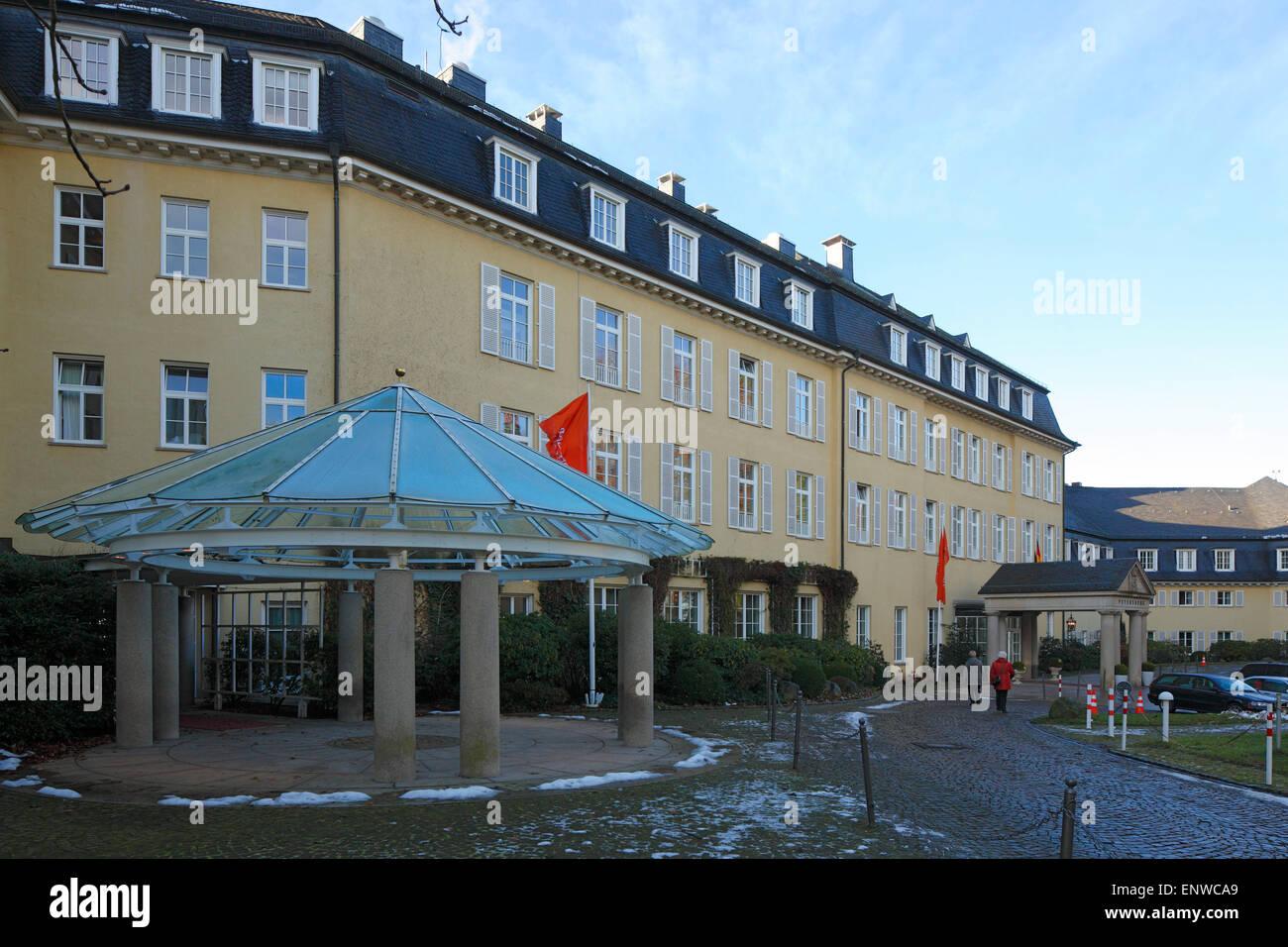 Steigenberger Grand Hotel auf dem Petersberg im Siebengebirge, Gaestehaus der Bundesregierung, Koenigswinter am - Stock Image