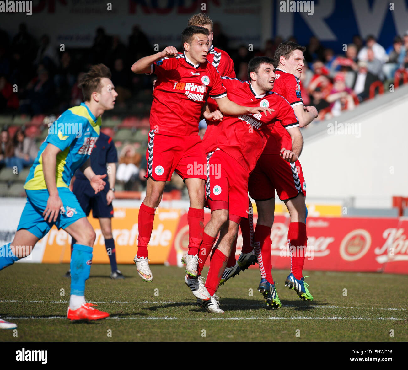 sports, football, Regional League West, 2014/2015, Rot Weiss Oberhausen versus 1. FC Cologne 2:0, Stadium Niederrhein - Stock Image
