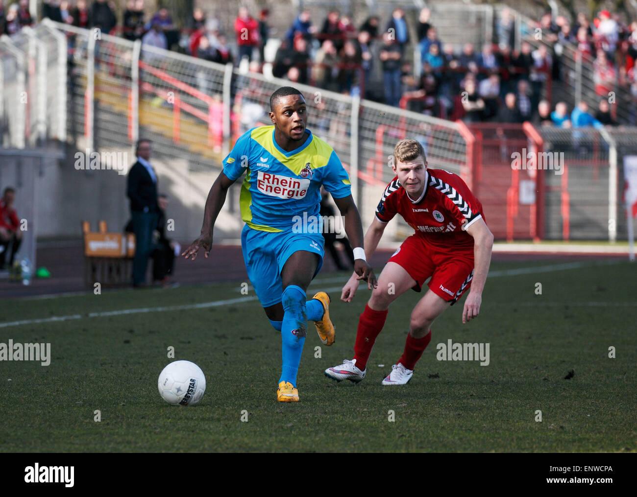 sports, football, Regional League West, 2014/2015, Rot Weiss Oberhausen versus 1. FC Cologne 2:0, Stadium Niederrhein - Stock Image