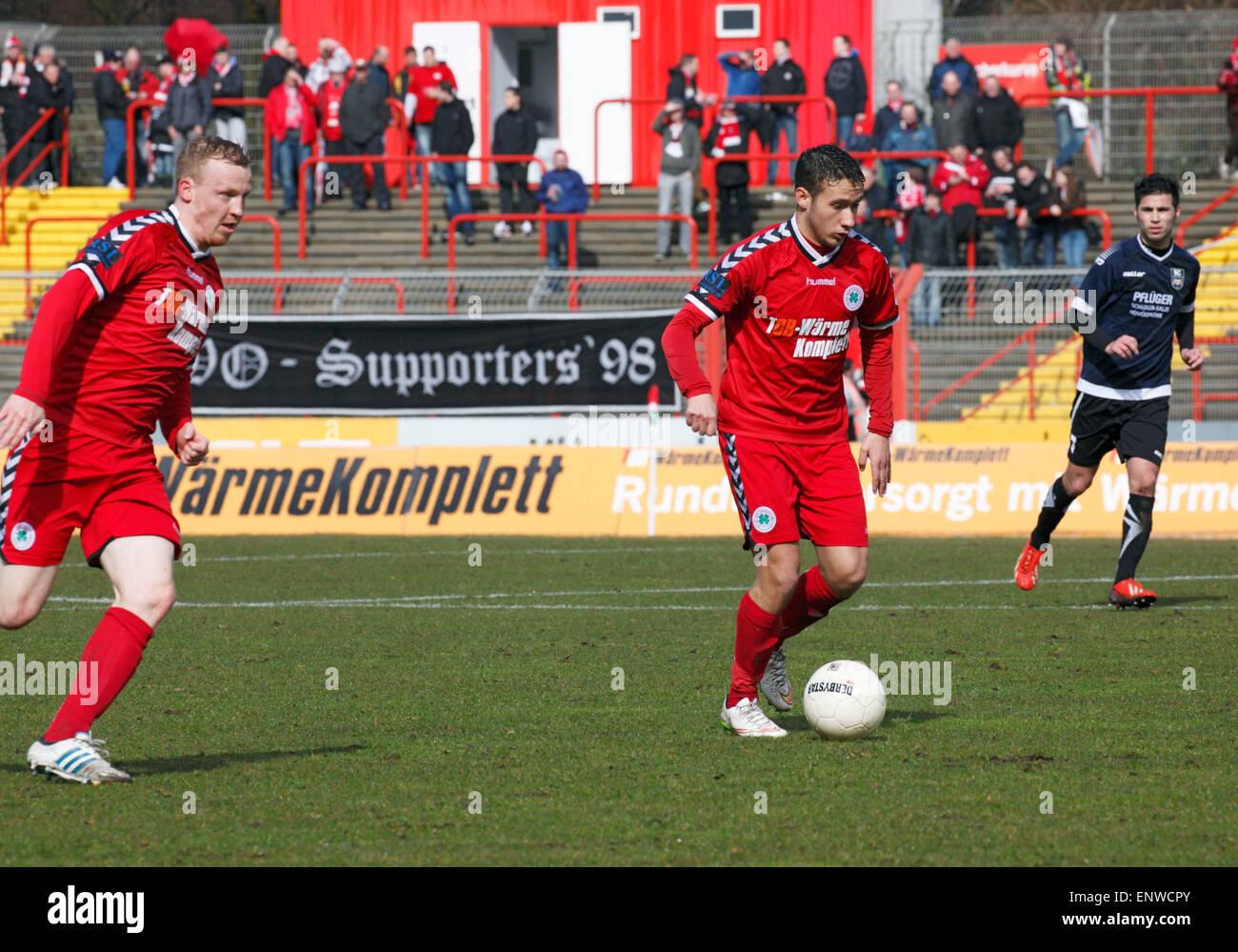 sports, football, Regional League West, 2014/2015, Rot Weiss Oberhausen versus SC Wiedenbrueck 2000 4:0, Stadium Stock Photo