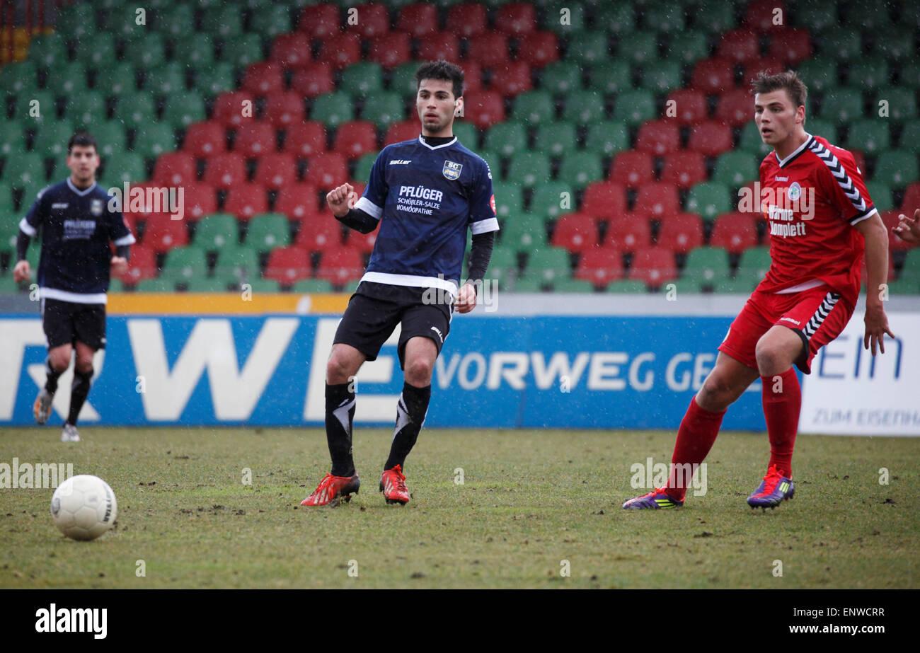 sports, football, Regional League West, 2014/2015, Rot Weiss Oberhausen versus SC Wiedenbrueck 2000 4:0, Stadium - Stock Image