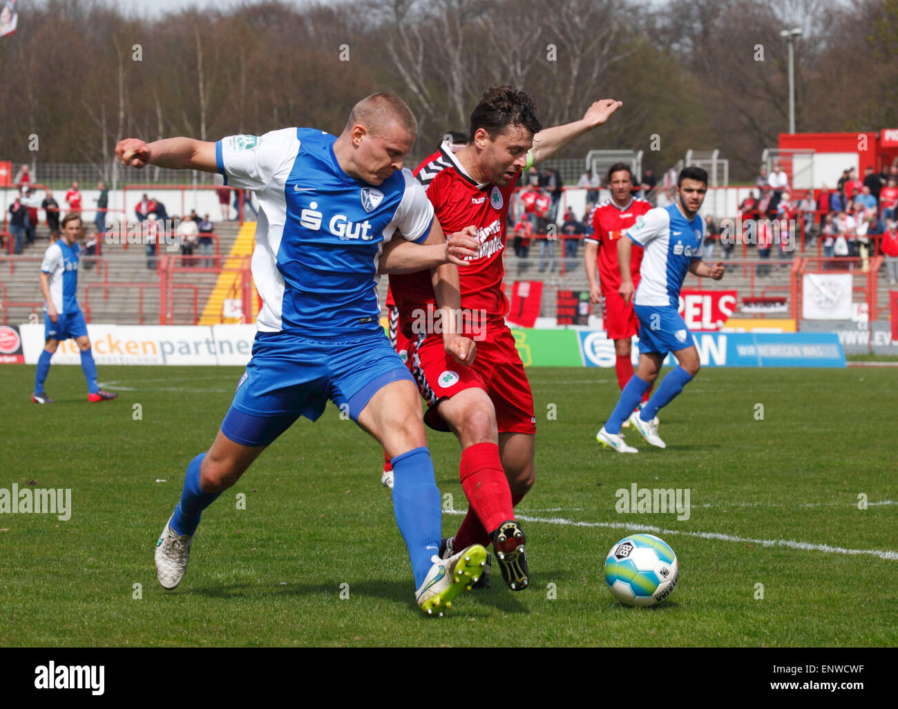 sports, football, Regional League West, 2014/2015, Rot Weiss Oberhausen versus VfL Bochum U23 2:3, Stadium Niederrhein Stock Photo