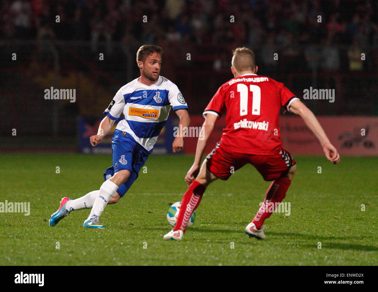 sports, football, Lower Rhine Cup, 2014/2015, semifinal, Rot Weiss Oberhausen versus MSV Duisburg 2:0, Stadium Niederrhein Stock Photo